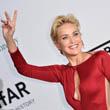 Sharon Stone bepasizott
