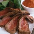 Grillezett steak s�ltpaprika m�rt�ssal