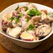 Jénaiban sült burgonya saláta