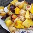 Grillezett gyümölcsnyárs